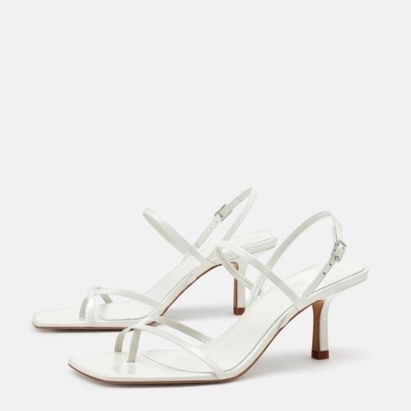 ZARA White Strap Sandals